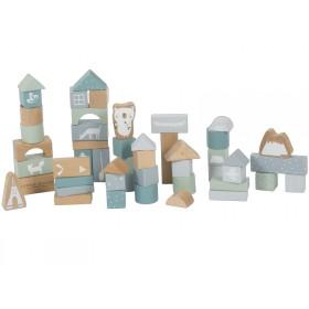 Little Dutch wooden Building Blocks BLUE