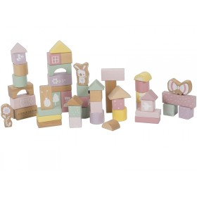 Little Dutch wooden Building Blocks PINK