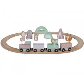 Little Dutch Wooden Railway Train PINK