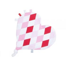 Little Dutch cuddle cloth heart lozenge pink