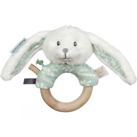 Little Dutch Rattle Ring RABBIT mint