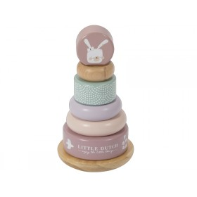 Little Dutch Ring Stacker BUNNY pink
