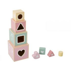 Little Dutch wooden stacking blocks pink