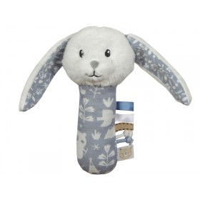 Little Dutch Cuddle Rattle RABBIT blue