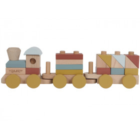 Little Dutch Wooden Stacking Train PURE & NATURE