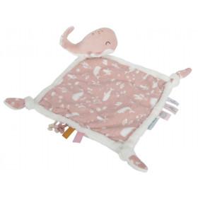 Little Dutch Cuddle Cloth Ocean WHALE pink
