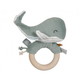 Little Dutch Rattle Ring Ocean WHALE mint