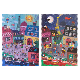 Londji Puzzle Night & Day in PARIS (36 Pieces)