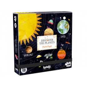 Londji Pocket Puzzle DISCOVER THE PLANETS (100 Pieces)