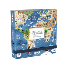 Londji Pocket Puzzle DISCOVER THE WORLD (100 Pieces)