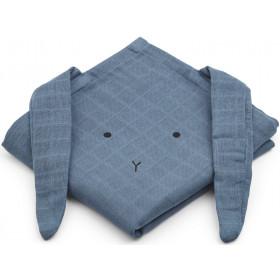 LIEWOOD Burp Cloth Hannah 2 Pack BUNNY foggy blue