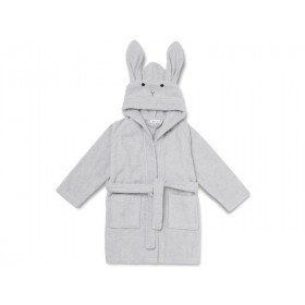 LIEWOOD Hooded Bathrobe Lily RABBIT grey 1 - 2 years