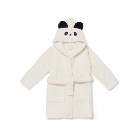 LIEWOOD Hooded Bathrobe Lily PANDA cream 3 - 4 years