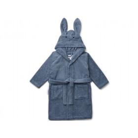LIEWOOD Hooded Bathrobe Lily RABBIT foggy blue 3 - 4 years