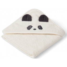 LIEWOOD Hooded Towel Baby Albert PANDA cream