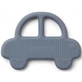 LIEWOOD Silicone Teether Gemma CAR foggy blue