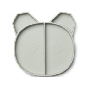 LIEWOOD Compartment Plate Maddox PANDA mint
