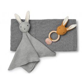 LIEWOOD Knit Gift Set Petra BUNNY grey