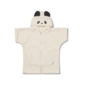 LIEWOOD Hooded Bathrobe Lela PANDA creme 7 - 8 years