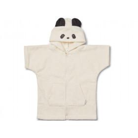 LIEWOOD Hooded Bathrobe Lela PANDA creme 5 - 6 years
