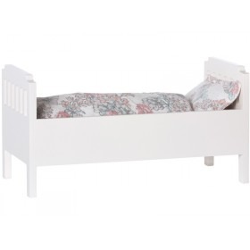 Maileg Bed with Bedding white small
