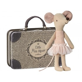 Maileg Mouse Big Sister Ballerina with Suitcase