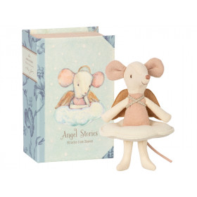 Maileg Angel Mouse in Book Big Sister
