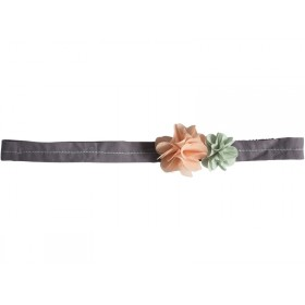Maileg Hair Band Fluff Flowers rose and green