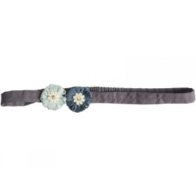 Maileg Hair Band Big Flower aqua