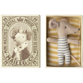 Maileg Mouse Baby Sleepy-Wakey in Box BOY