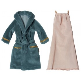 Maileg Ginger Family Mum's SET Nightdress & Bathrobe