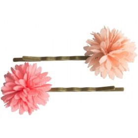 Maileg 2 Bobby Pins CHIFFON FLOWERS rose
