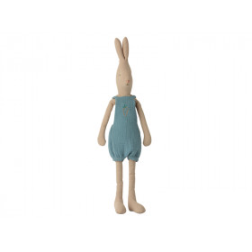 Maileg Rabbit with OVERALLS blue (Size 3)