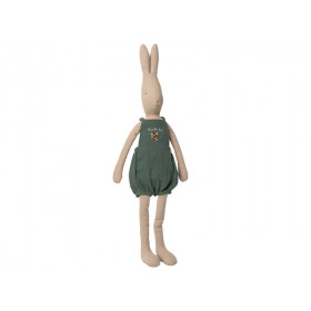 Maileg Rabbit with OVERALLS green (Size 5)