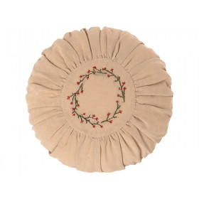 Maileg Round Cushion FLOWERS Small sand