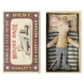 Maileg Mouse Little Brother in Box BLUE