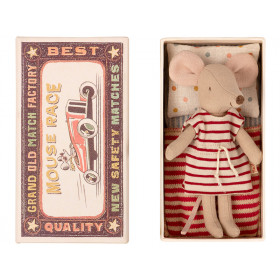Maileg Mouse Big Sister in Box STRIPED DRESS