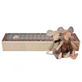 Maileg Mouse Grandma & Grandpa in Cigarbox