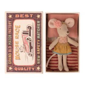 Maileg Mouse Little Sister in Box SKIRT Mustard
