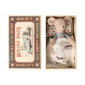 Maileg Mouse Little Brother in Matchbox