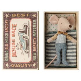 Maileg Mouse Little Brother in Box BOW TIE
