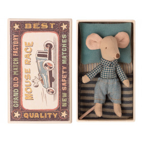 Maileg Mouse Little Brother in Box CHECKS