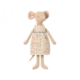 Maileg Medium Mouse Girl FLORAL DRESS
