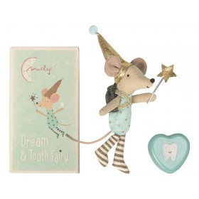 Maileg Mouse Dream & Tooth Fairy with dental dose blue