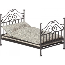 Maileg METAL BED with Bedding anthracite micro