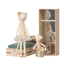 Maileg Dancing Cat & Mouse in Box