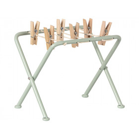 Maileg metal DRYING RACK with pegs
