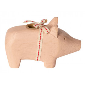 Maileg WOODEN PIG Small powder