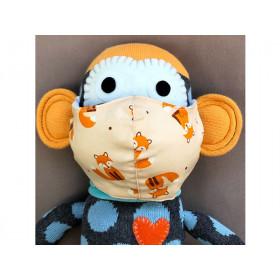 Hickups Fabric Mask KIDS Fox creme