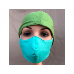 Hickups Fabric Mask ADULTS FEMALE turquoise